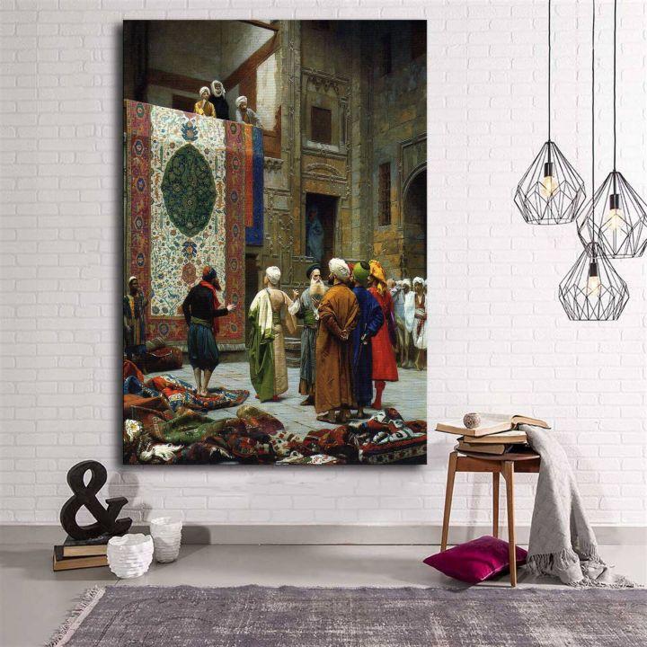 لوحة قماشية للسجاد العثماني