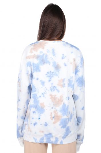 Oversize Batik Renkli Kadın Sweatshirt - Thumbnail