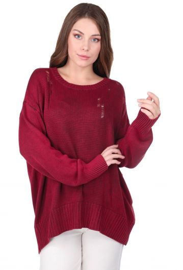 MARKAPIA WOMAN - Oversized Crew Neck Knitwear Women Sweater (1)