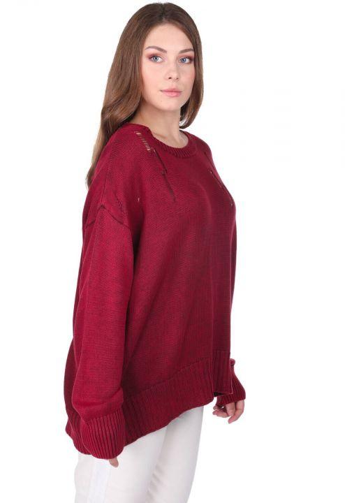 Oversized Crew Neck Knitwear Women Sweater