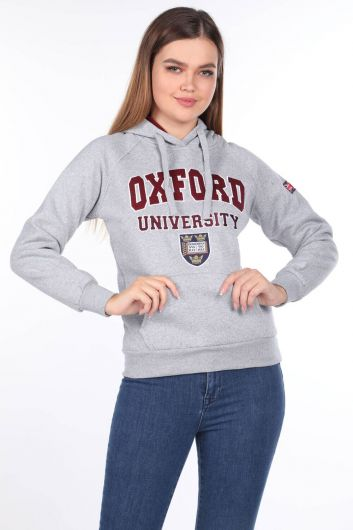 Oxford University Women's Hoodie with Appliques - Thumbnail