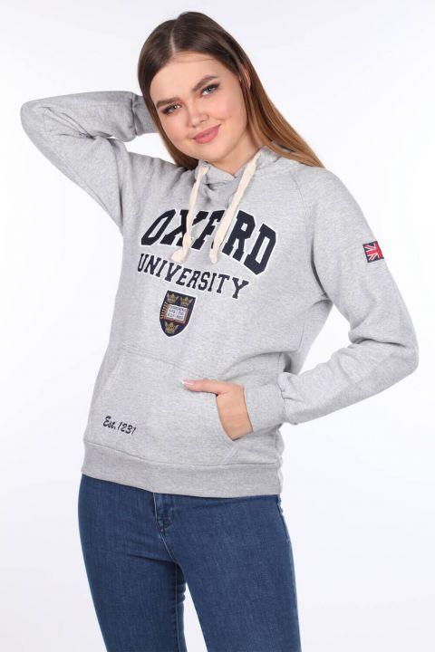 Женская флисовая толстовка с капюшоном и аппликацией Oxford University
