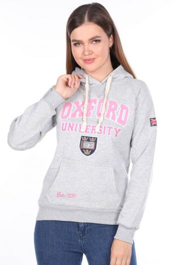Oxford University Applique Fleece Hooded Sweatshirt - Thumbnail