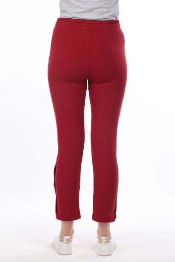 Women's Claret Red Sweatpants - Thumbnail