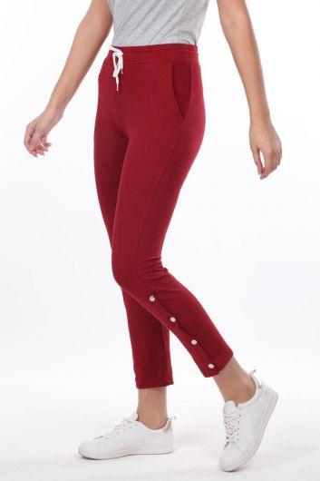 MARKAPIA WOMAN - Красный женский спортивный костюм бордового цвета на кнопках (1)