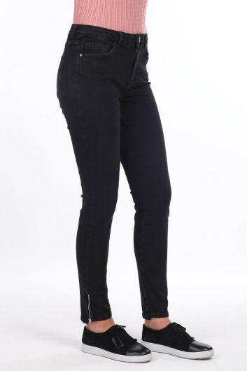 MARKAPİA WOMAN - Paçası Fermuarlı Yüksek Bel Jean Pantolon (1)