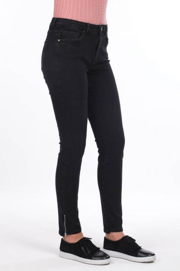 MARKAPİA WOMAN - Zipped High Waist Jean Trousers (1)