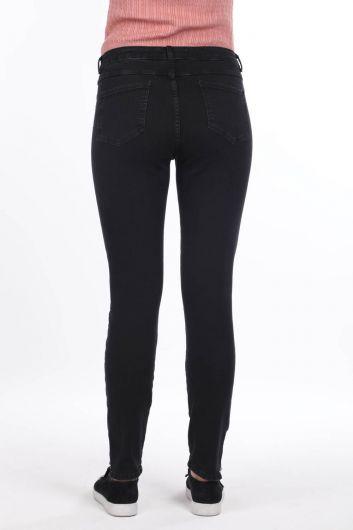 Джинсовые брюки на молнии с высокой талией - Thumbnail