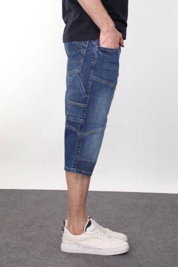 BANNY JEANS - Мужские капри с разрезом сзади и карманом с деталями (1)