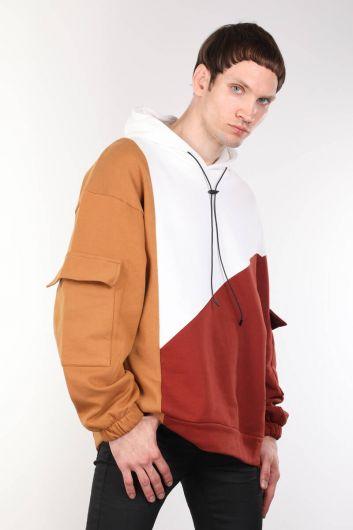ColorParty ColorParty Hooded Sweatshirt كبيرة الحجم للرجال - Thumbnail