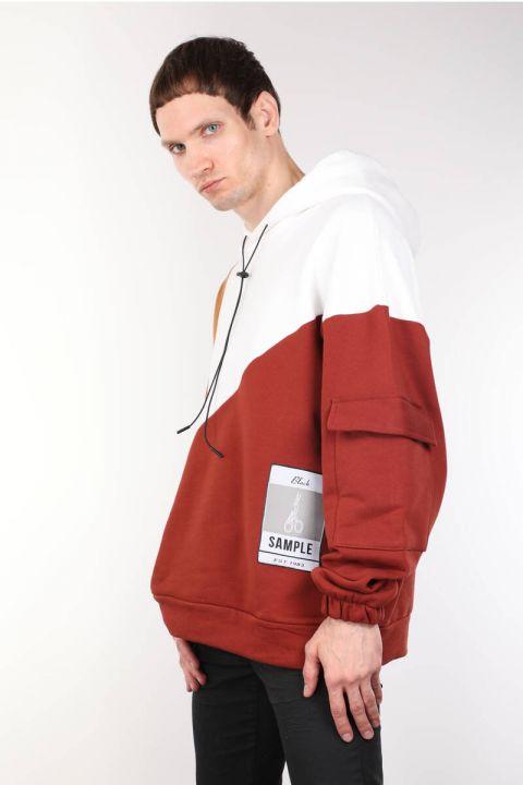 ColorParty ColorParty Hooded Sweatshirt كبيرة الحجم للرجال