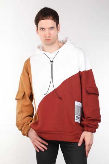 ColorParty Color Hooded Oversized Men's Sweatshirt - Thumbnail