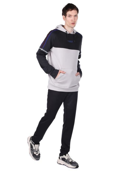Partial Hooded Tracksuit Set