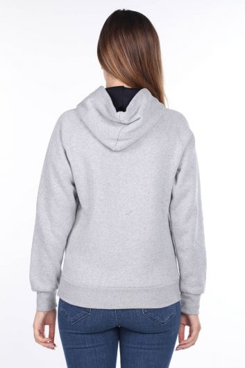 Paris France Applique Fleece Hooded Sweatshirt - Thumbnail