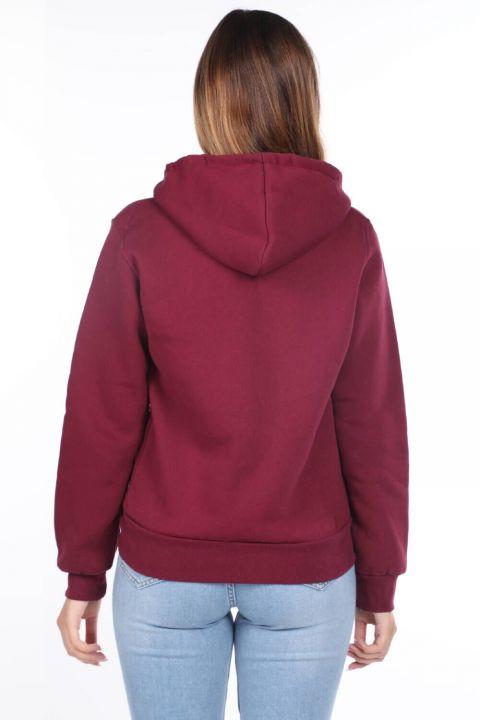 Paris France Applique Fleece Zippered Sweatshirt