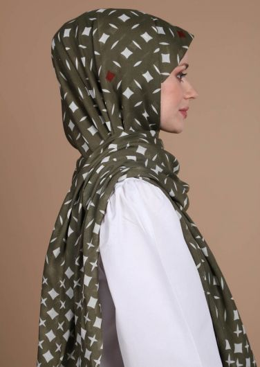 MİRAY - Patterned Cotton Shawl (1)