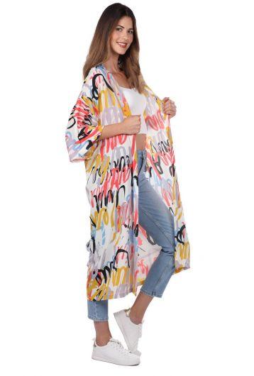 MARKAPIA WOMAN - Куртка-кимоно с рисунком Markapıa (1)