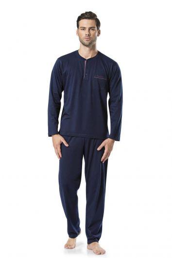 Pierre Cardin Erkek Uzun Kollu Penye Pijama - Thumbnail