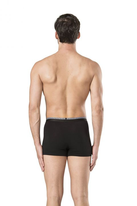 Pierre Cardin Men's Black & Gray Stretch Boxer 6 Pieces