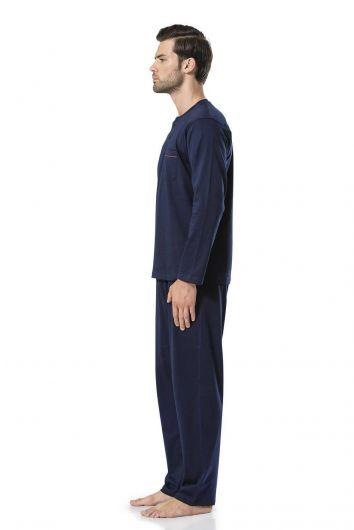 PİERRE CARDİN - بيجامةبيير كاردان القطنية الطويلة الأكمام للرجال (1)