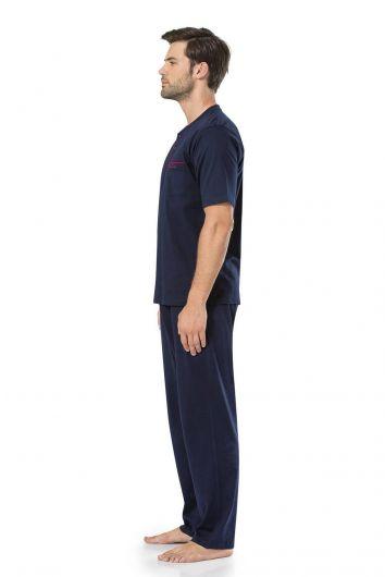 PİERRE CARDİN - Мужские пижамы из гребенного хлопка с короткими рукавами Pierre Cardin (1)