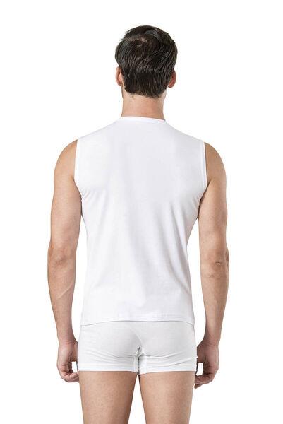 Pierre Cardin - Pierre Cardin Men's Sleeveless V-Neck White Athlete 5 Pieces (1)