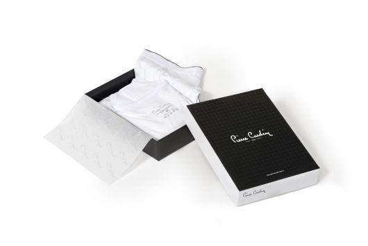 طقم بوكسر فانلة بيضاء للرجال من بيير كاردان ، 3 قطع - Thumbnail