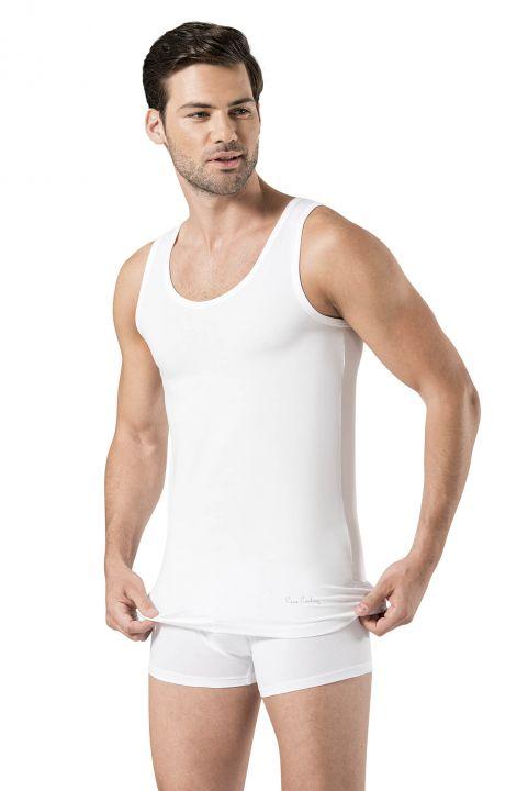 Белая эластичная мужская майка-боксер Pierre Cardin, комплект из 3 предметов