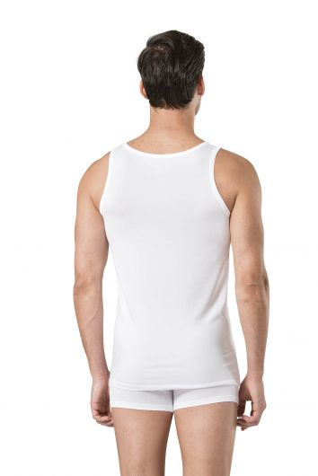 Pierre Cardin Men's White Stretch Undershirt Boxer Set 3 Pieces - Thumbnail