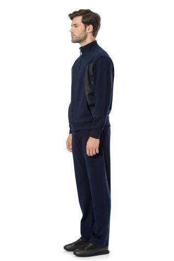 طقم بدلة رياضية بيير كاردان بسحاب للرجال - Thumbnail