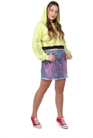 MARKAPIA WOMAN - Розовая джинсовая мини-юбка в стиле панк Markapia (1)