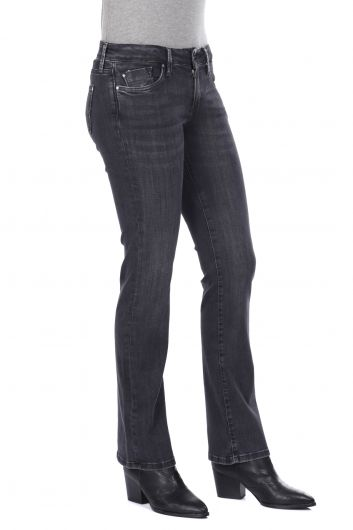 MARKAPIA WOMAN - Smoked Straight Leg Women Jean Trousers (1)