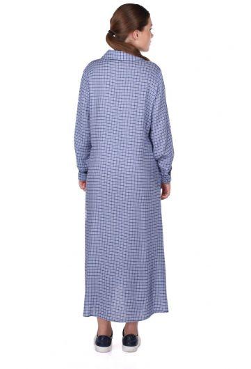 Plaid Shirt Dress - Thumbnail