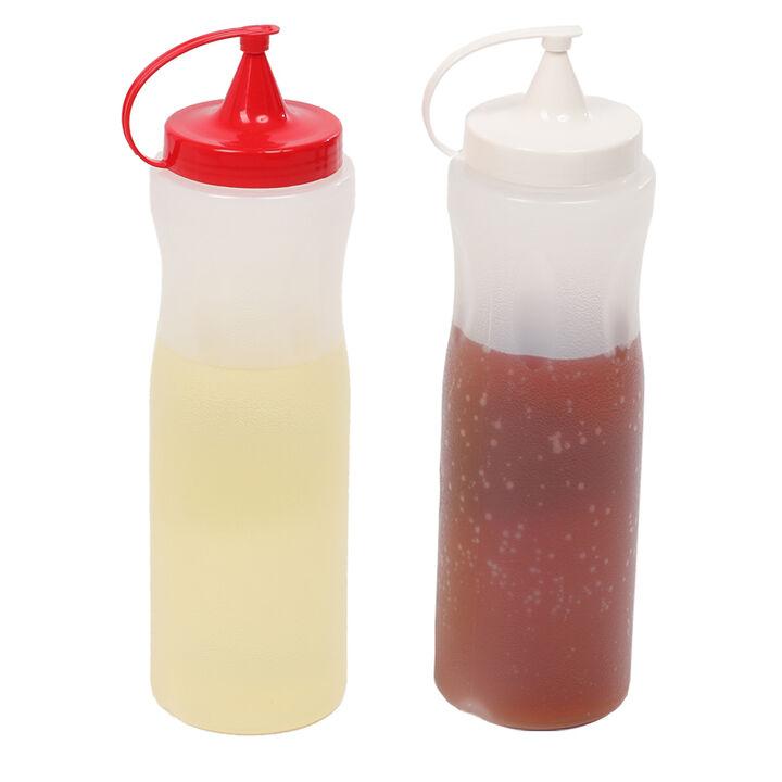 مجموعة زجاجات صلصة الزيت البلاستيكية 2