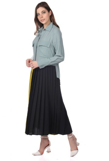 MARKAPIA WOMAN - فستان ملون مطوي (1)