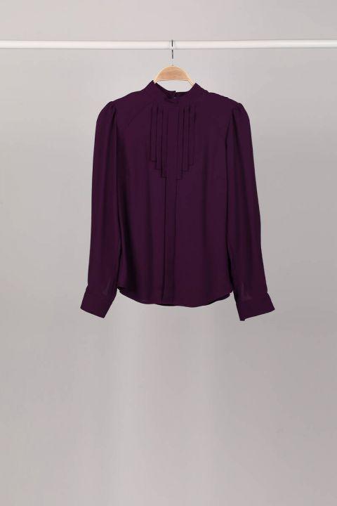 Женская блузка Damson со складками и детализированной отделкой