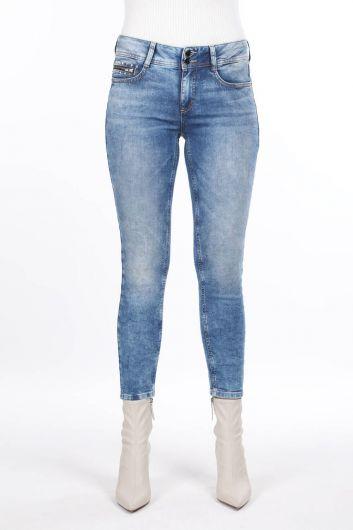 Pocket Detailed Slim Fit Jean Trousers - Thumbnail