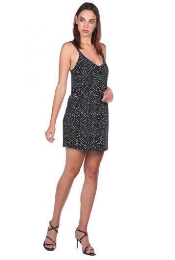 MARKAPIA WOMAN - فستان أسود قصير منقط بنمط بولكا (1)