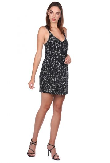 MARKAPIA WOMAN - Черное мини-платье в горошек (1)