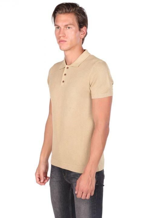 Polo Neck Knitwear Men's T-Shirt