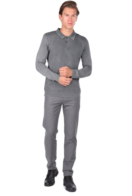 Anthracite Men's Polo Neck Sweater