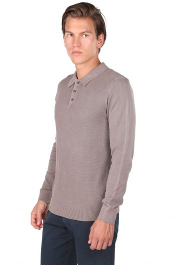 MARKAPİA MAN - Polo Neck Knitwear T-Shirt (1)