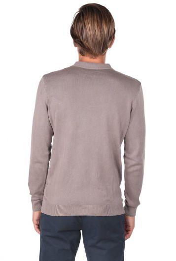 Polo Neck Knitwear T-Shirt - Thumbnail