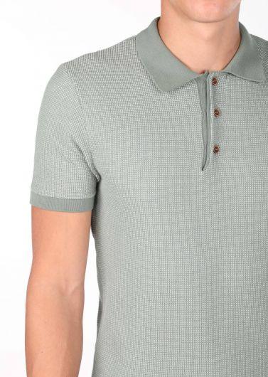 Polo Yaka Erkek Triko T-Shirt - Thumbnail