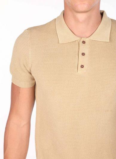 Polo Yaka Triko Erkek T-Shirt - Thumbnail