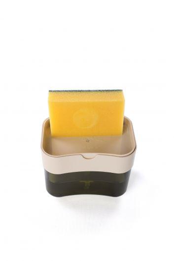 MARKAPIA HOME - Pompalı Sünger Hazneli Sıvı Sabunluk (1)