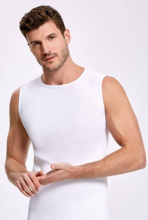 Principle 1006 Белый спортсмен-мужчина с круглым вырезом, 3шт.