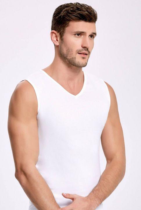Principle 1008 V-Neck White Male Athlete 3Pieces