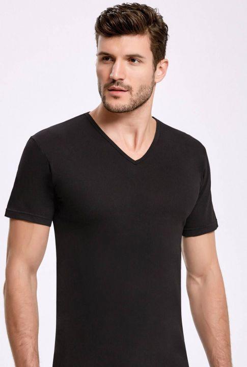 Principle 1013 Black V-Neck Sleeved Male Athlete3Pieces