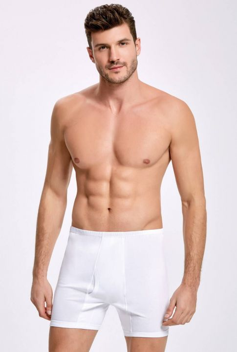 İlke 1014 Long White Men's Underpants 10 Pieces